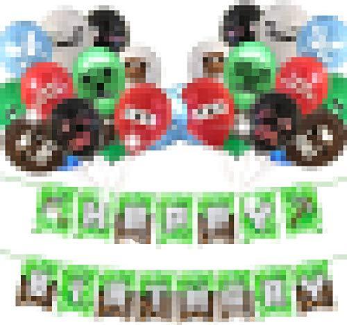 Decoraciones de Fiesta de Cumpleaños CHEPL 24 piezas Globos de Fiesta Cumpleaños Globos de Látex para la Decoración de la Fiesta de Cumpleaños
