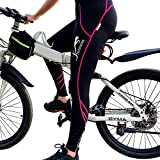 Shermosa Culottes Ciclismo Mujer Largo Culote Bicicleta Pantalon Ciclismo MTB para Mujeres con Badana sin Tirantes con 10 mascarillas Negro-Rosa EU L