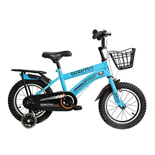 Axdwfd Kids Bike Kids Bike 2-13 Year Old Child Bicycle 12/14/16/18 Inch Boy Girl Bicycle,3 Colors Bicycle (Color : Blue, Size : 12in)
