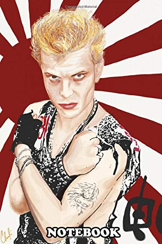 Notebook: Portrait Of 80s Music Icon Billy Idol , Journal for Writing, College Ruled Size 6
