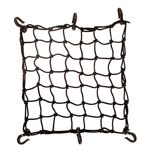 Seah 15quot x 15quot Cargo Net 44 mm Diameter 2quot x 2quot Small Mesh with 6 ABS Hooks