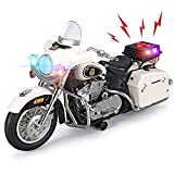 Liberty Imports Police Motorcycle Toy Vehicle Electronic Kids Patrol Bike with Flashing LED Lights & 4 Button Siren Sound Effects