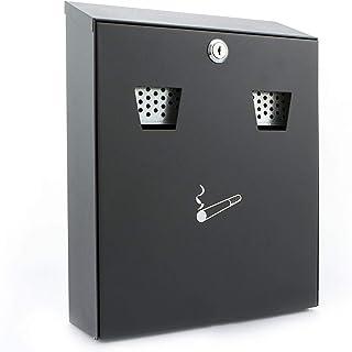Sterling CIG2BK Wall Mounted Powder Coated Cigarette Bin, Black, 255 x 320 x 75 mm