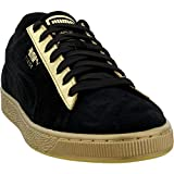 PUMA Mens Suede Classic Metallic Casual Sneakers, Black, 10.5
