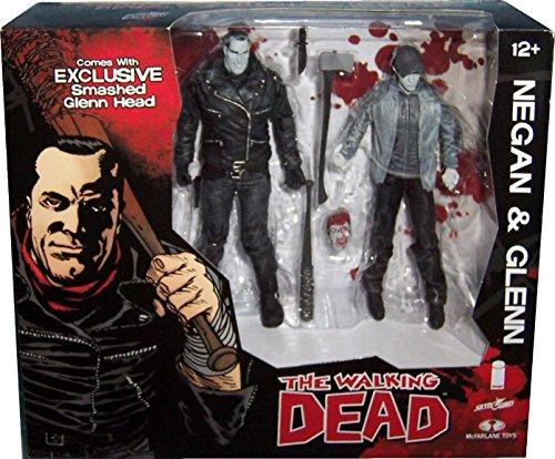Walking Dead Negan Glenn Black & White 2 Pack Action Figure Set SDCC 2016 Skybound Exclusive