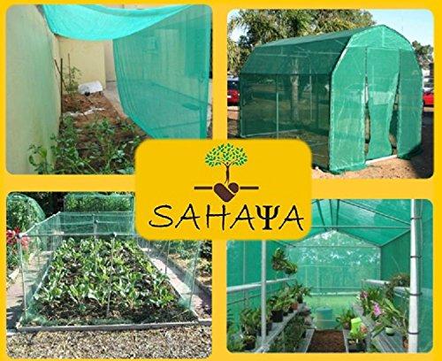 KRIWIN 5 Mtr X 3 Mtr (16.4 Feet X 9.8 Feet) Green Garden Shade Net:50-60% Shade :Greenhouse UV Stabilized Net( 5X3)