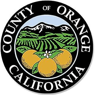 American Vinyl Round Orange County California Seal Sticker (The OC ca Logo)