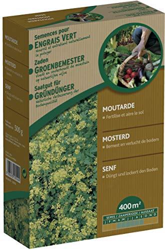 Générique Moutarge Blanche - Engrais Vert pour Le Potager 500 g - évite Les Mauvaises Herbes - enrichit Le Sol - Bloque la Propagation des nitrates