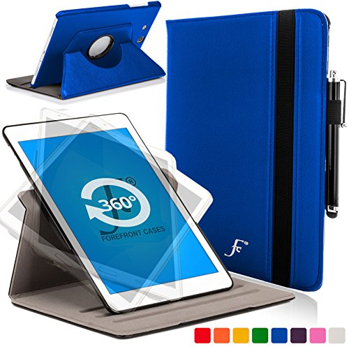 Forefront Cases Cover for Samsung Galaxy Tab E 9.6 T560 (July 2015) Rotating Case Cover Stand – Extra Padded Rugged & Full Device Protection - Blue
