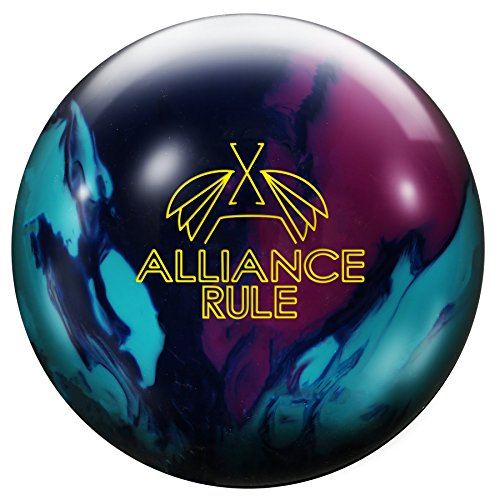 Roto Grip Alliance Rule International Oversea Reactive Bowling Ball For Beginners And Professionals with Bow, Lila Blau Aqua, 15 lbs