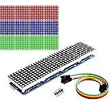 Youmile 8x32 Módulo de pantalla LED de control MCU de luz azul única de matriz de puntos para Arduino/MCU / 51 / AVR / STM32 / Raspberry Pi