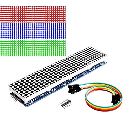 YOUMILE MAX7219 Matriz de puntos led MCU 8x32 control Módulo de pantalla LED Unidad para Arduino Raspberry Pi 4 en 1