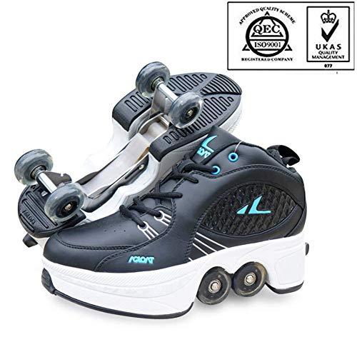 LZR Rollschuhe Skateschuhe für Frauen Männer, Jungen Kinder Radschuhe Rollschuhe Sneakers, für Unisex Anfänger Geschenk,36