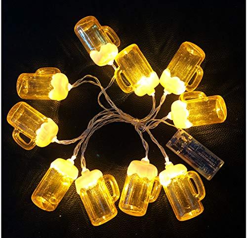 Lichterkette der trockenen Schale des Bieres führte Zeichenkette Weihnachtsdekoration beleuchtet Dekorationhochzeitsbatterie-Lichterkette der kleinen Lichter des Feiertags im Freien