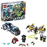 LEGO Super Heroes - L'Attacco della Speeder Bike Marvel Avengers, con 3 Minifigure Pantera Nera, Thor e un Agente AIM, pi Accessori e Armi, Set di Costruzioni per Bambini +6 Anni, 76142