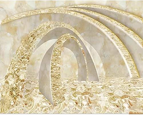 XHXI Papel tapiz 3D de alta gama, túnel de tiempo dorado, moda moderna, mármol, sala de estar, dormitorio, decoración, p 3D papel Pintado de pared tapiz Decoración dormitorio Fotomural-250cm×170cm