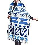 Bufanda cálida de invierno con patrón azteca sin costuras