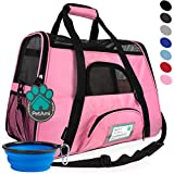 PetAmi Premium Airline Approved Soft-Sided Pet Travel Carrier | Ideal for Small - Medium Sized Cats, Dogs, and Pets | Ventilated, Comfortable Design with Safety Features (Small, Pink)