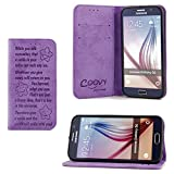 COOVY® Funda para Samsung Galaxy S6 SM-G920F SM-G920 Billetera, Ranuras para Tarjetas, Cierre...