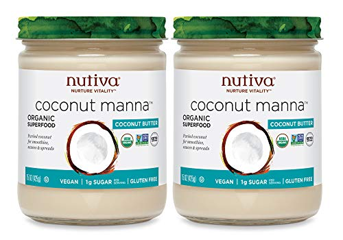 Nutiva Organic Coconut Manna Puréed Coconut Butter, 15 Ounce (Pack of 2) |...