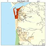 Large Street & Road Map of Gold Beach, Oregon OR - Printed poster size wall atlas of your home town