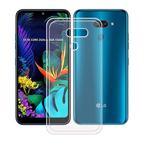 YZKJ Capa para LG K12 Max, luz de absorção de choque, mas durável, flexível, gel macio, transparente, capa de proteção de silicone TPU para LG K12 Max (6,2 polegadas)