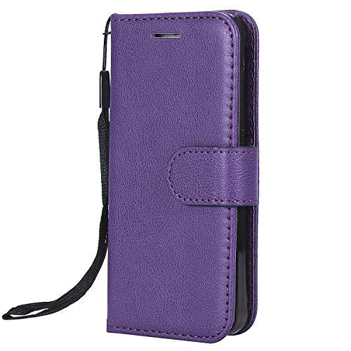 Jeewi Hülle für Galaxy S5 Hülle Handyhülle [Standfunktion] [Kartenfach] [Magnetverschluss] Tasche Etui Schutzhülle lederhülle klapphülle für Samsung Galaxy S5/G900F - JEKT050514 Violett