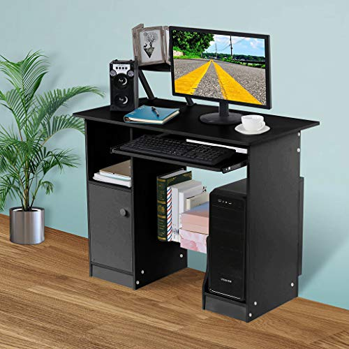 Home Computer Desk, Sacow Desktop Small Desk with lockers Home Dormitory Study Table