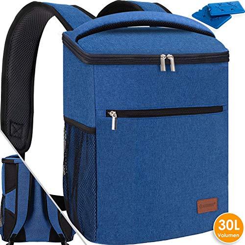 Kesser® 30L Kühlrucksack Kühltasche faltbar Groß Schultergurt Kühlbox Isoliertasche...