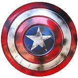 Vengadores Marvel Capitán América Disfraz de Metal Shield Apoyos de Película, Vengadores DecoracióN de Pared de Bar Retro 47cm A