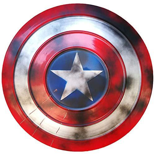 Vengadores Marvel Capitn Amrica Disfraz de Metal Shield Apoyos de Pelcula, Vengadores DecoraciN de Pared de Bar Retro 47cm A