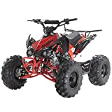 X-PRO 125cc ATV Quad Youth 4 Wheeler Adults ATVs Quads Middle Size 4 Wheelers ,Red