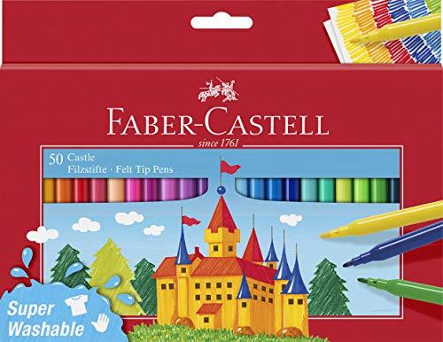 Faber-Castell 554204 - Filzstift Castle, 50er Kartonetui