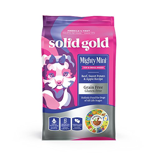 Solid Gold - Mighty Mini Beef with Sensitive Stomach Probiotic Support - Grain-Free Holistic Dry Dog Food for Toy & Small Breed of All Life Stages - 4 lb