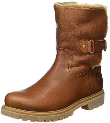 Panama Jack Felia Dames warm gevoerd biker boots halve schacht laarzen & laarzen