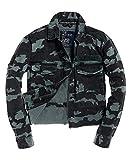 Superdry Riley Cropped Rookie Jacket Chaqueta, Azul (Sea Camo U2d), M para Mujer
