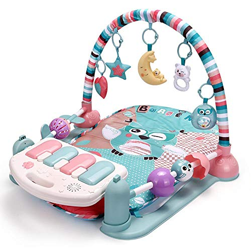 Best Review Of Baby Play Mats for Floor from Birth, Multifunction Baby Gym Mats for Playing 2 in 1 B...