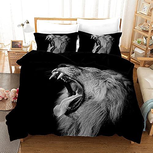Bedclothes-Blanket Juego de Cama 150,Impresión de la Mano de Tres Piezas del Regalo de Cama Digital de león Digital-Seducir_200 * 225