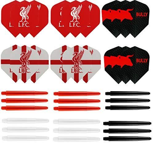 Liverpool Dart-Set – LFC Dart-Flights – Dart-Schäfte.