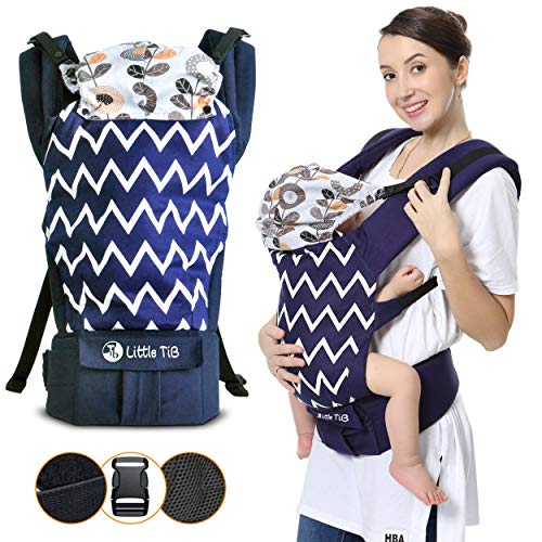Baby Carrier for Men & Women - Infant Carrier - Newborn to Toddler- Little Tib Baby Carrier All in 1 Ergonomic Hiking Backpack -Back & Front Adjustable Sling Baby Carrier
