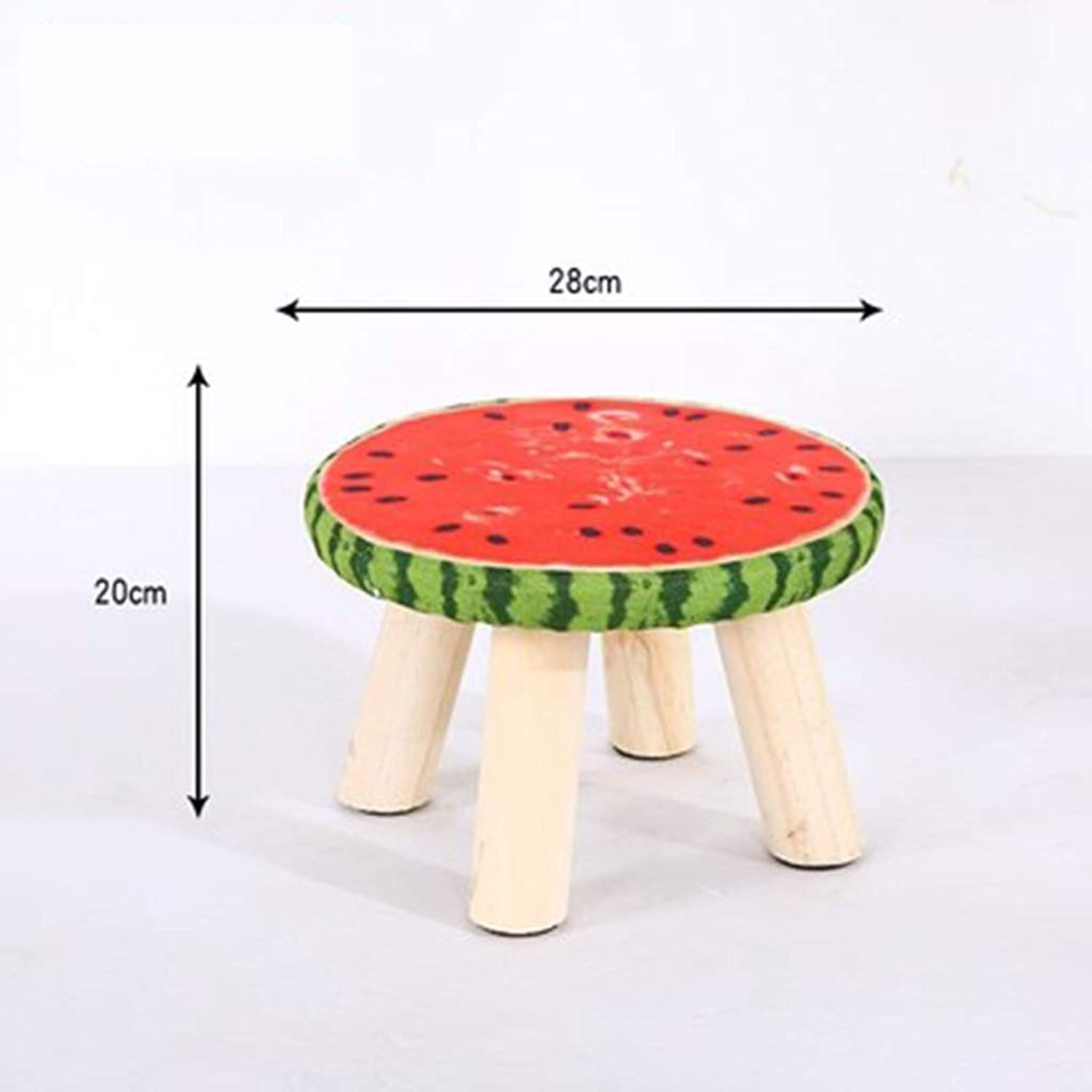 RHHWJJXB Solid Wood Stool Fabric Dining Stool Makeup Stool Fashion Creative Computer Stool Dressing Stool Home Bench (color   C)