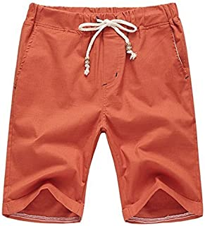 5556302da7 AIYINO Mens Cotton Casual Classic Fit Summer Shorts