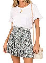 GreatValue-Newarrivalpromotionat$19.99orless,both couponsandcodeare applicable,addtocartformoreinfonow! Features: Smocking waisted; Allover Leopard/ Floral/ Polka Dot Print ruffeld mini skirt; Elastic Waist Skirt with drawstring l...
