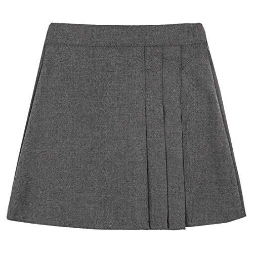 Style Wise Fashion Falda escolar con media cintura elástica para niñas de 9 a 10 años