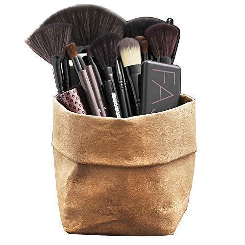Porte pour Pinceaux Maquillages Support pour l'ensemble de cosmétiques Rouge à lèvres stylo sourcil organisateur sac Chic lavable Grand stockage pour les voyages en plein air intérieur beauté vanité