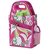 Storage Studios Macbeth Spinning Craft Tote, 7.25 x 7 x 13 Inches, Pink, White, Yellow, and Green (CH93542)