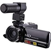 """Video Camcorder,CamKing HDV-301M HD 1080P 24MP 16X Digital Zoom Video Camera with Microphone and 3.0"""" LCD 270 Degree Screen"""