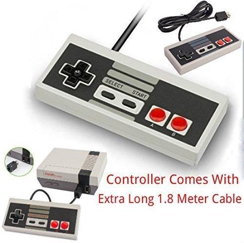 Game Pad Joystick Per Nintendo Mini Classic NES JOYPAD Con CAVO EXTRA LUNGO LUNGO 1,8 M