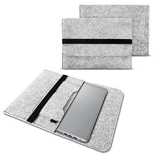 NAUC Notebook Tasche Hülle kompatibel für Lenovo Yoga C930 900 900 S 910 510 520 530 710 720 730 13,3-14 Zoll Filz Sleeve Schutzhülle Filz, Farben:Hell Grau