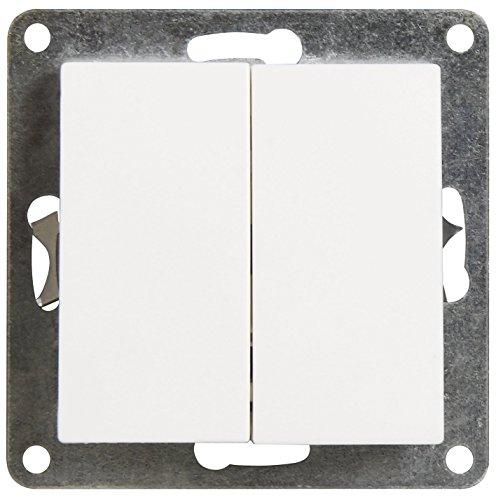 MC POWER - Serien-Schalter | FLAIR | 2-fach, 250V~/10A, UP, weiß, matt